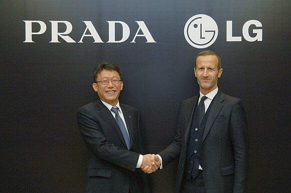 Paul Bae LG Electronics and Stefano Cantino PRADA Group