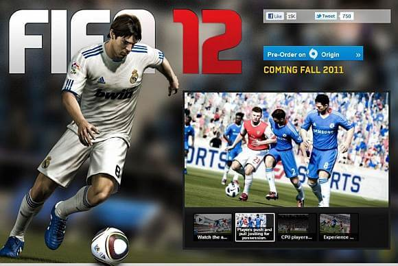 FIFA 12 on Xperia PLAY