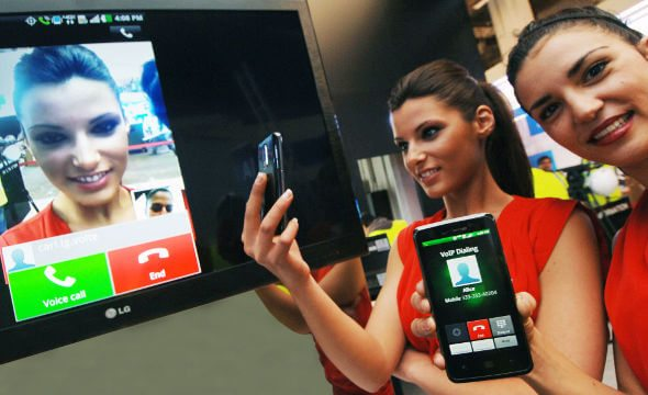 LG MWC2012 LTE Voice To Video 590
