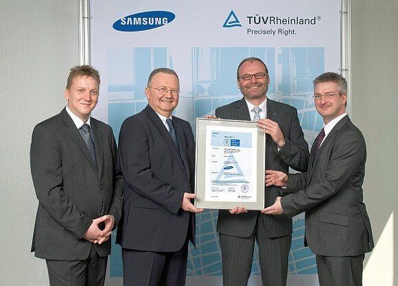 TUV Samsung Smart TV certificate award ceremony