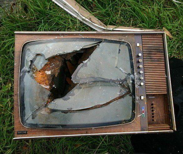 razbijen TV