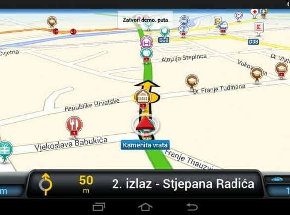 usporedba android navigacija naslovna