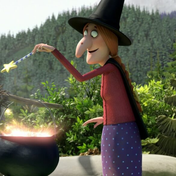 Room on the Broom 18 Making potion by lake