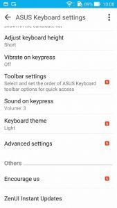 Asus Zenfone Selphie softver tipkovnica 5