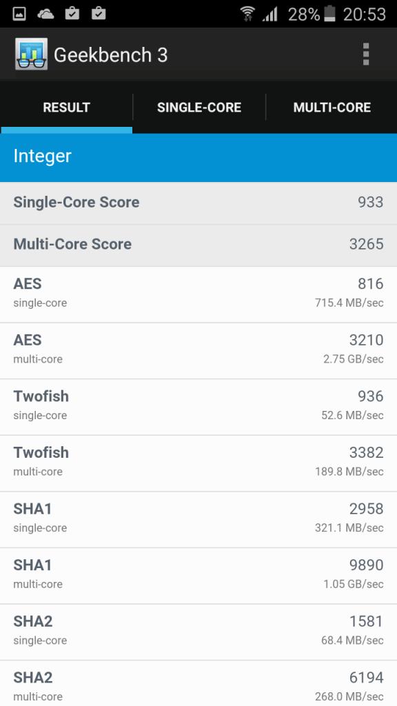 Samsung A3 2016 benchmark 3