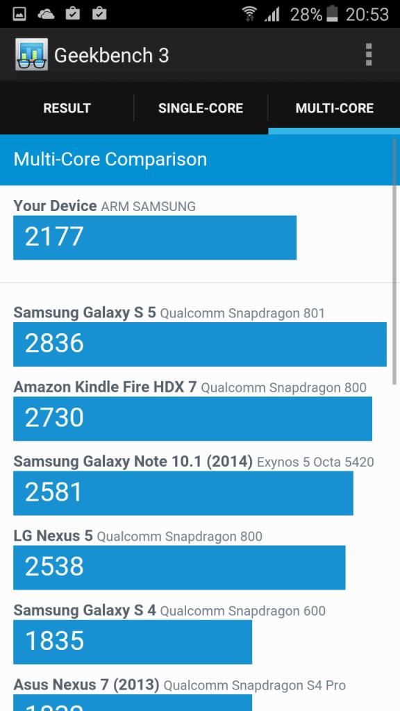 Samsung A3 2016 benchmark 5
