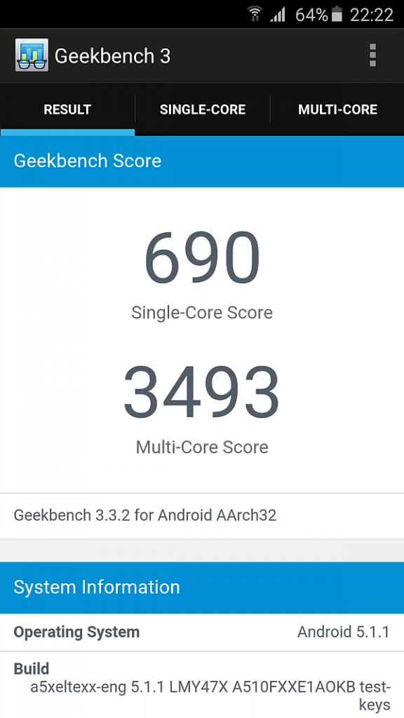 Samsung A5 2016 benchmark 1