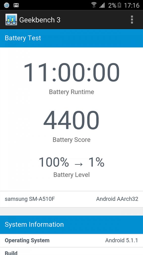 Samsung A5 2016 benchmark 33