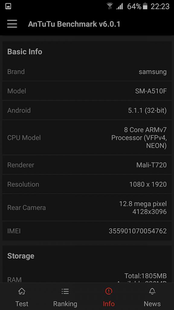 Samsung A5 2016 benchmark 5