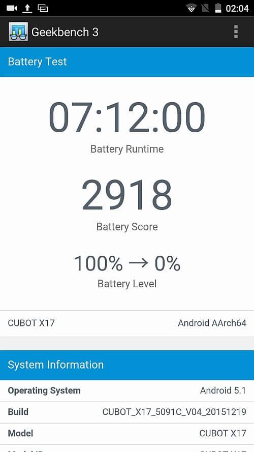 Cubot X17 benchmark 12