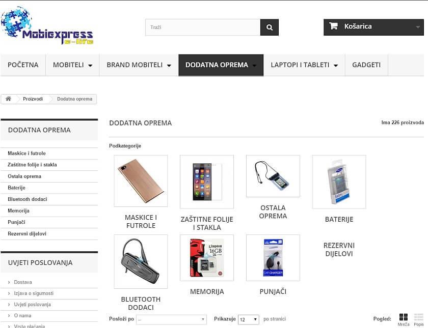 mobiexpress dodatna oprema