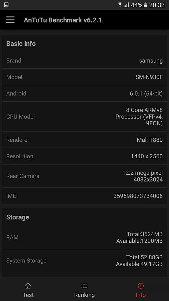 Samsung Galaxy Note7 benchmark 6
