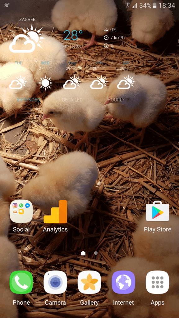 Samsung Galaxy Note7 sucelje 2
