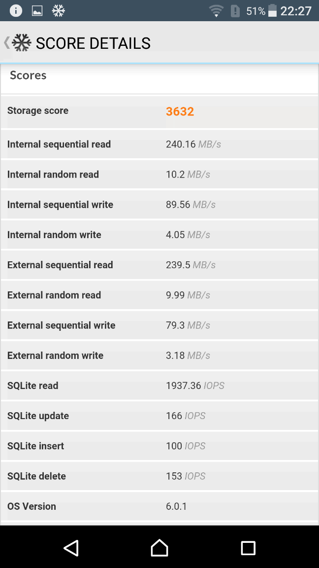 Sony Xperia XZ Benchmark 11