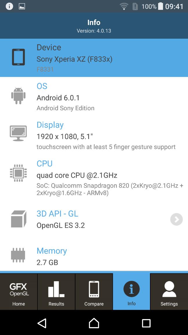 Sony Xperia XZ Benchmark 19
