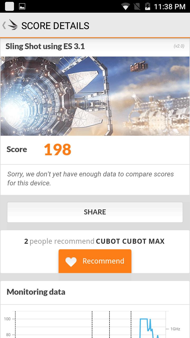 Cubot Max benchmark 15
