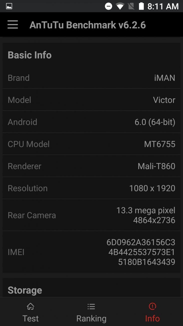 iMAN Victor benchmark 3