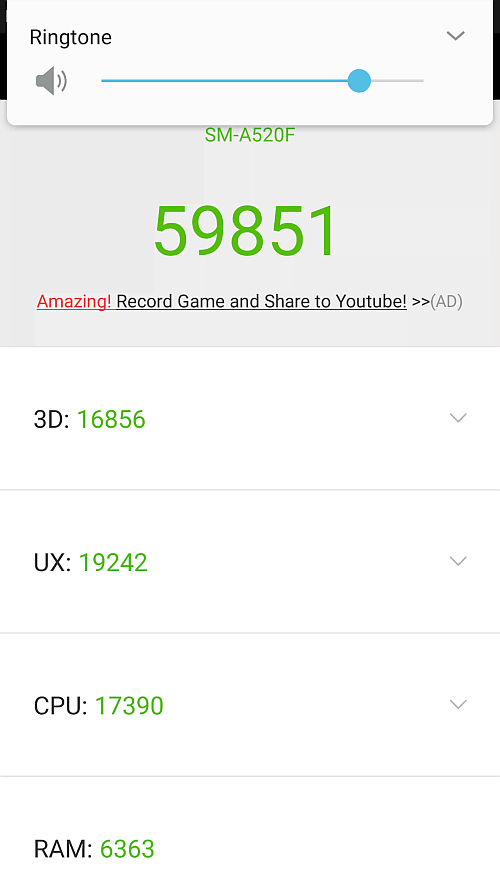 Samsung A5 2017 benchmark 1