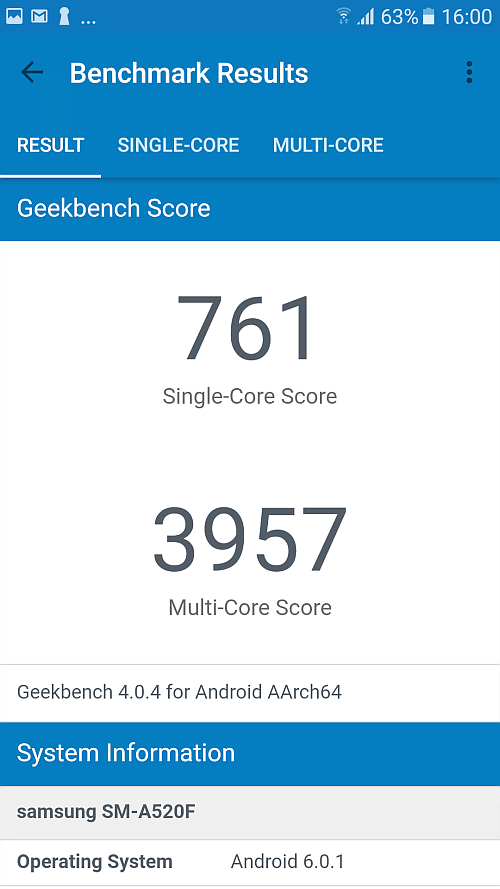 Samsung A5 2017 benchmark 12