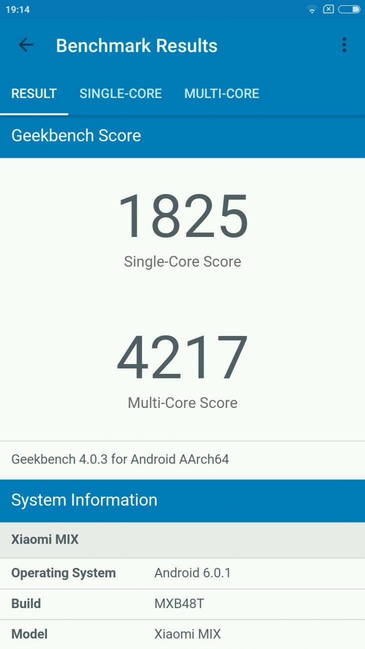 Xiaomi Mi Mix benchmark 8