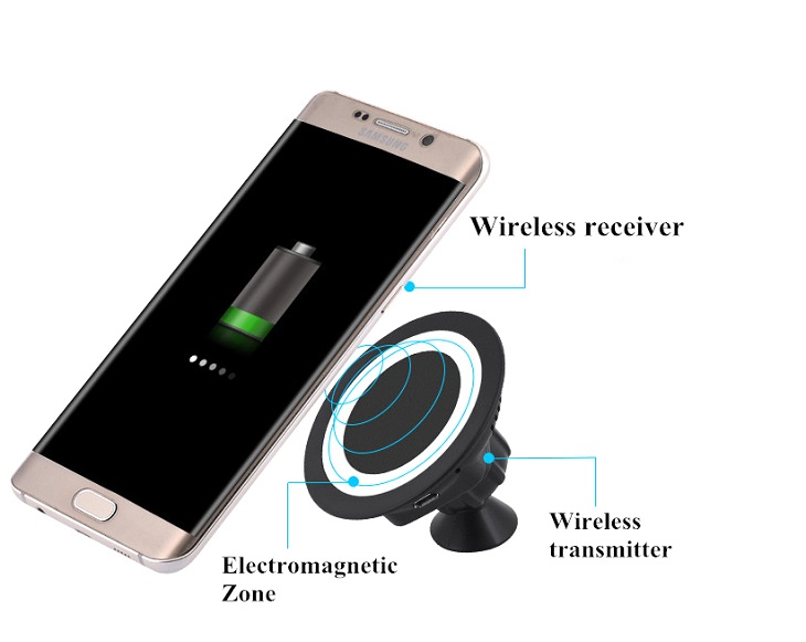 360 rotating magnetic car holder wireless charger for smartphone black 14