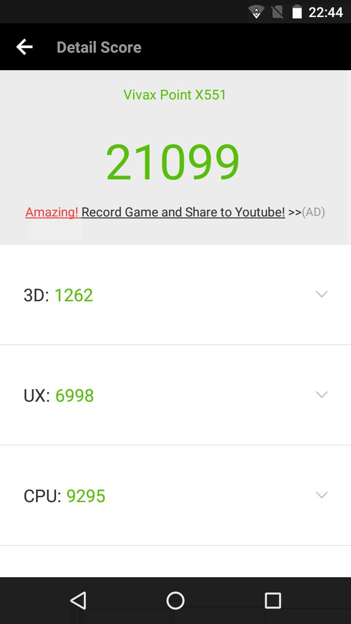 Vivax X551 benchmark 1