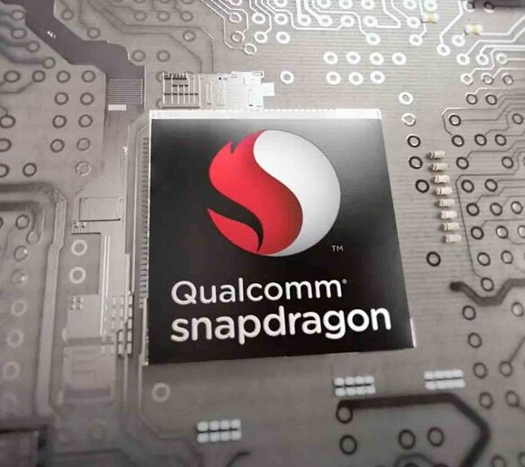 qualcomm snapdragon logo on a chip large