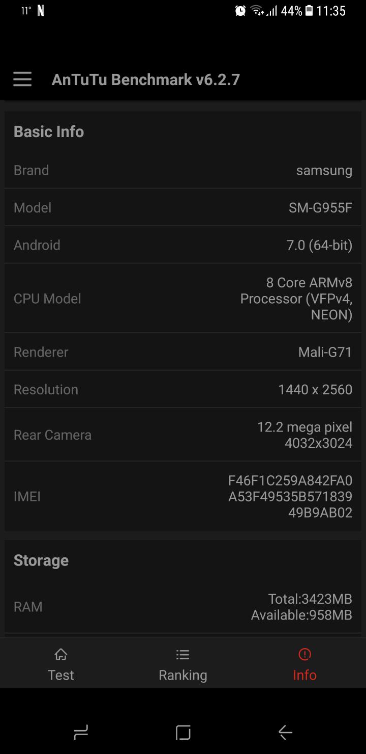 Samsung Galaxy S8 benchmark 15