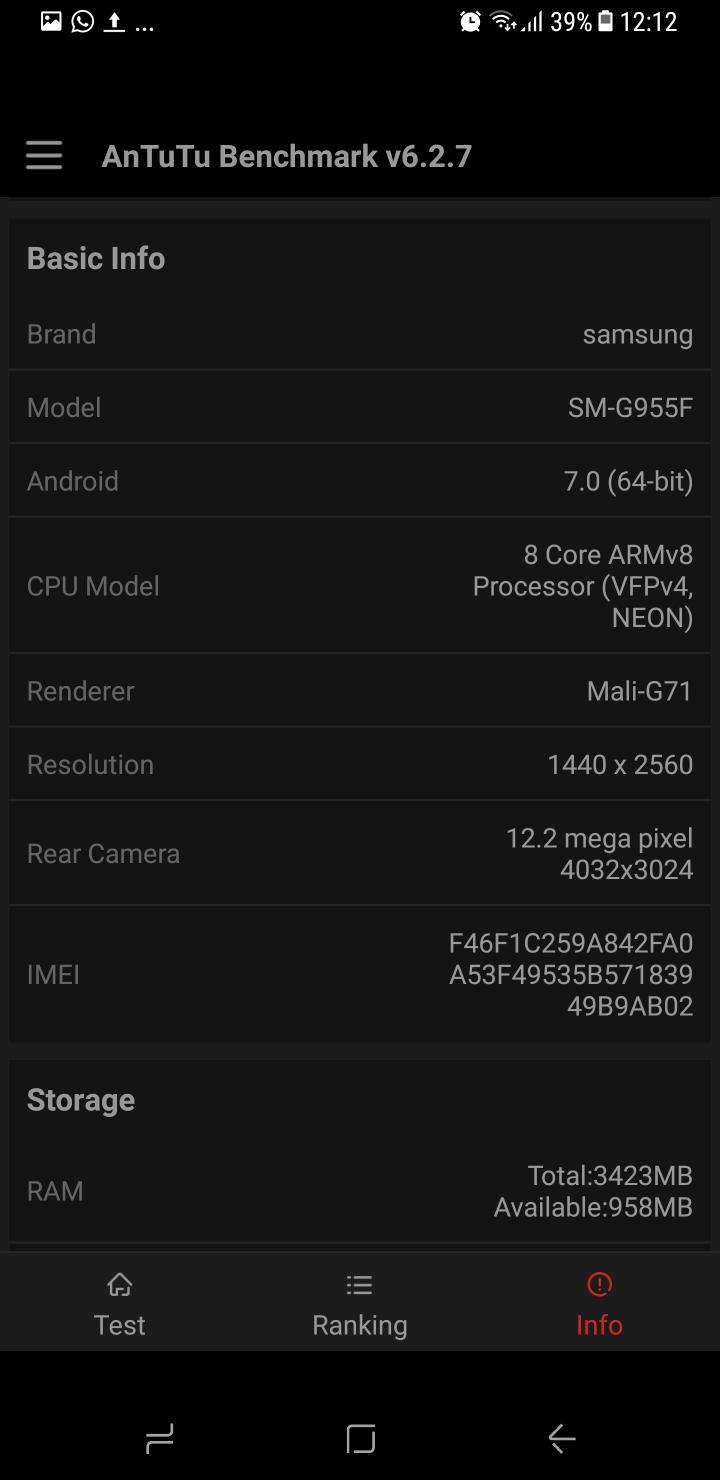 Samsung Galaxy S8 benchmark 18