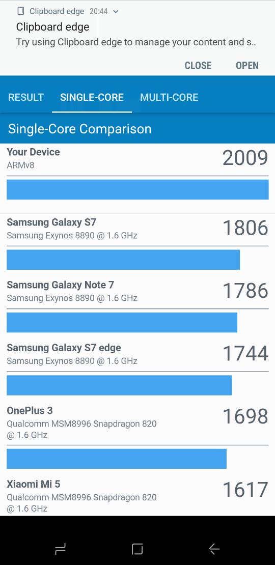 Samsung Galaxy S8 benchmark 2