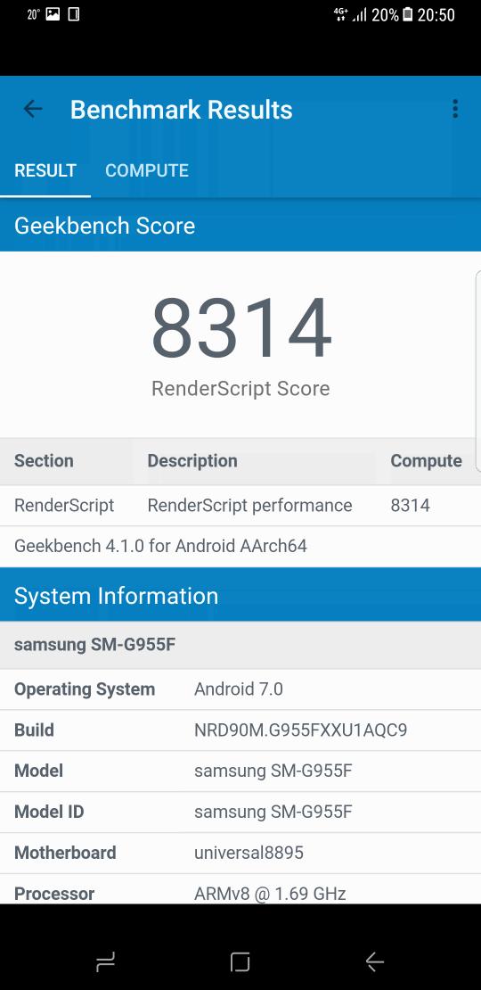 Samsung Galaxy S8 benchmark 4