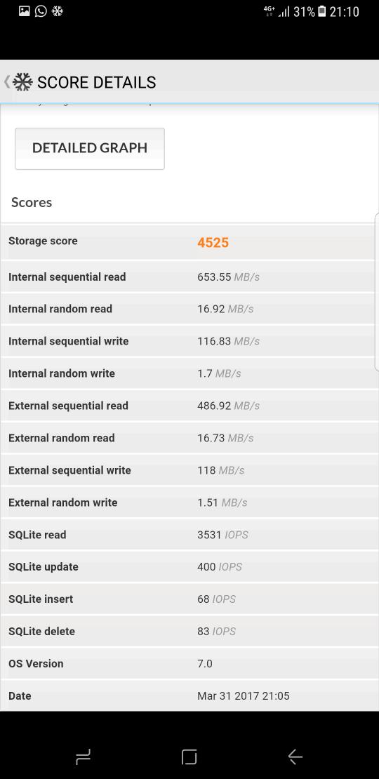 Samsung Galaxy S8 benchmark 7