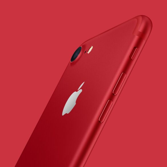iPhone 7 Product Red background