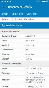 Meizu M6 Geekbench 2