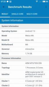 Meizu M6 Geekbench 3
