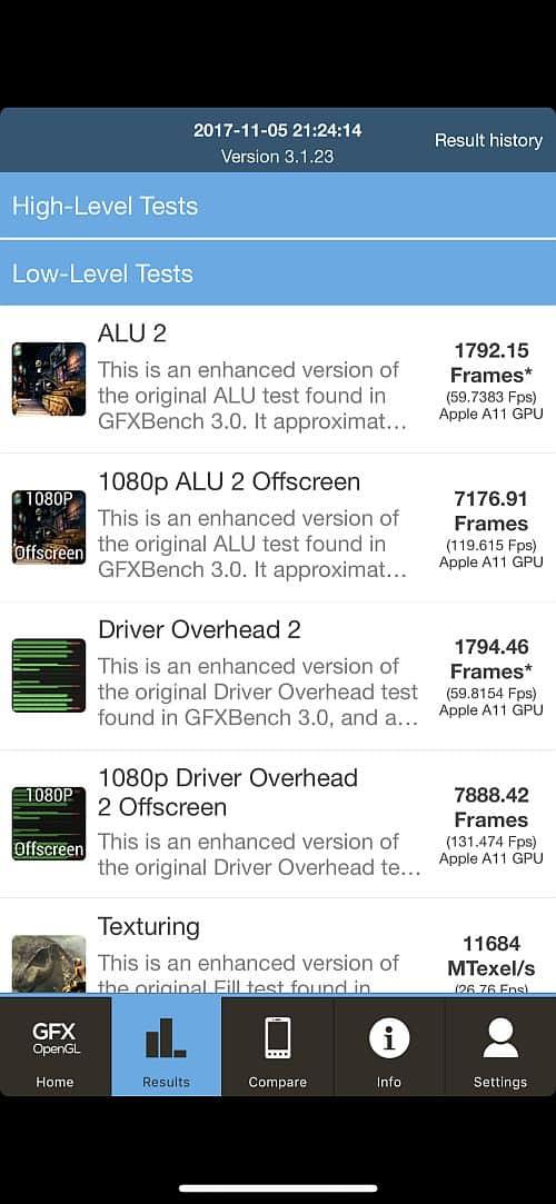 iPhone X benchmark 3