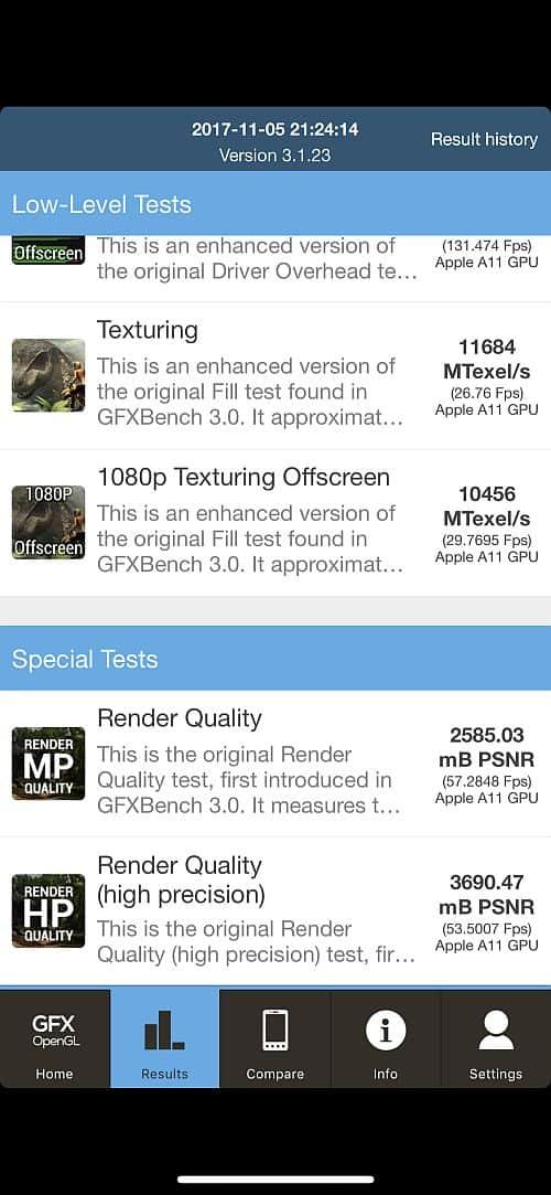 iPhone X benchmark 4
