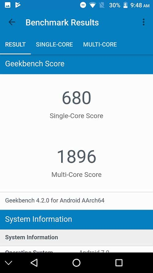 Vivax Point X1 benchmark 6