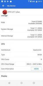 HTC U11 benchmark 9