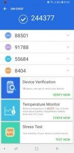 Samsung S9 AnTuTu Benchmark 6