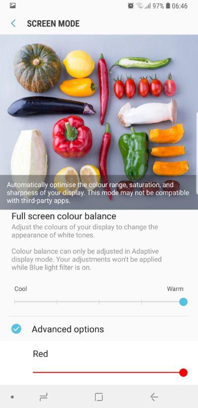 Samsung S9 display