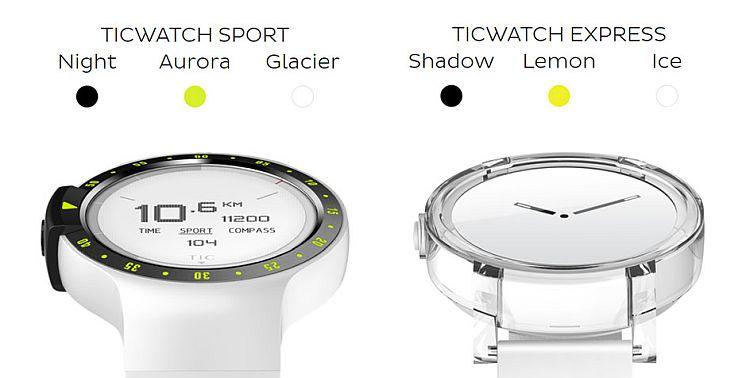 Ticwatch E Smart