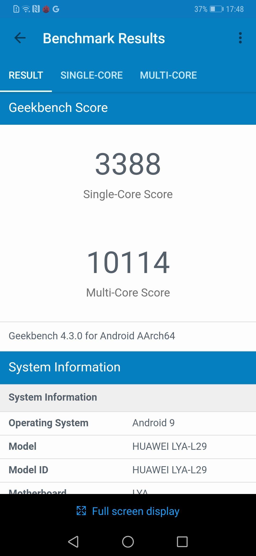 Huawei Mate 20 Benchmarks 1
