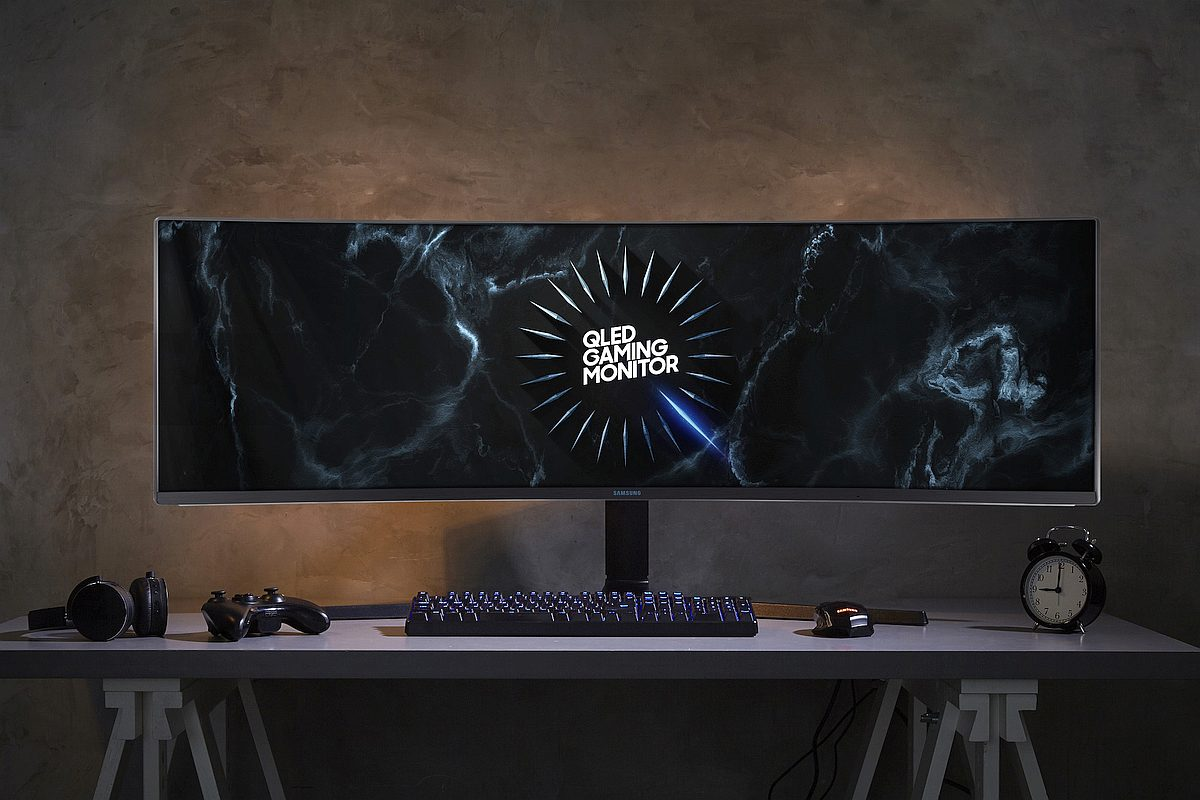 Samsung CRG9 super ultra wide gaming monitor 1