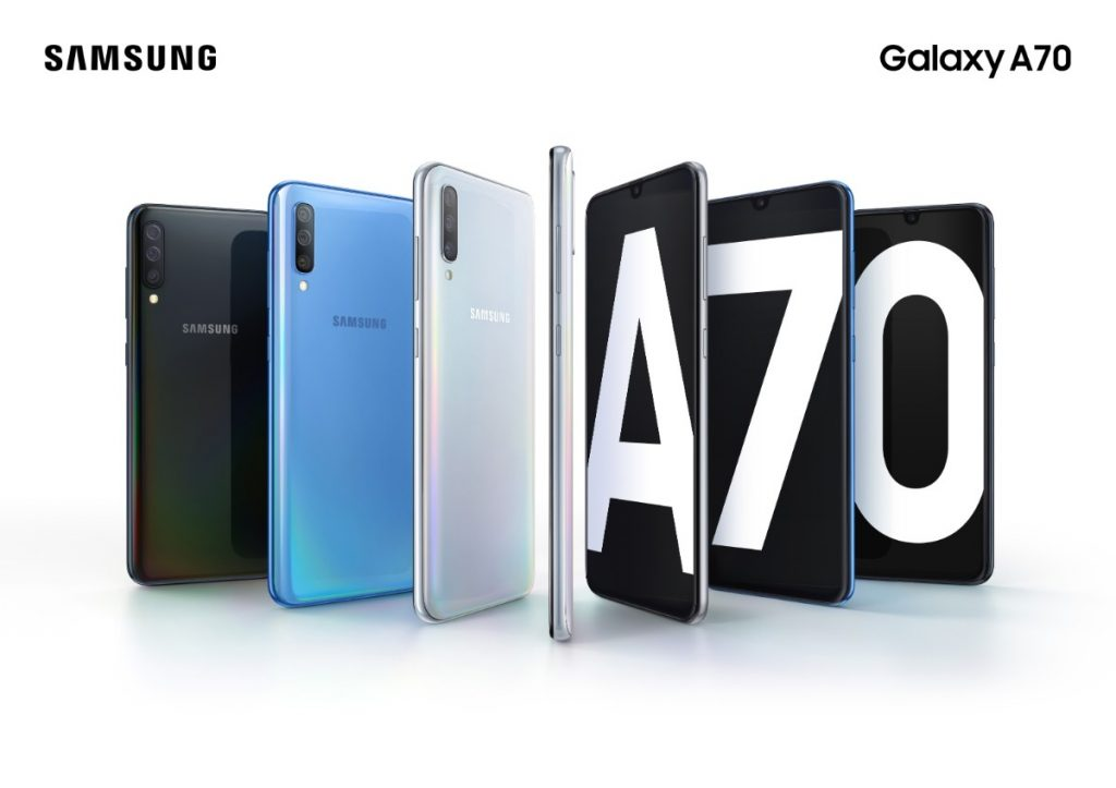 Galaxy A70 Product KV combo blackbluewhite 2P