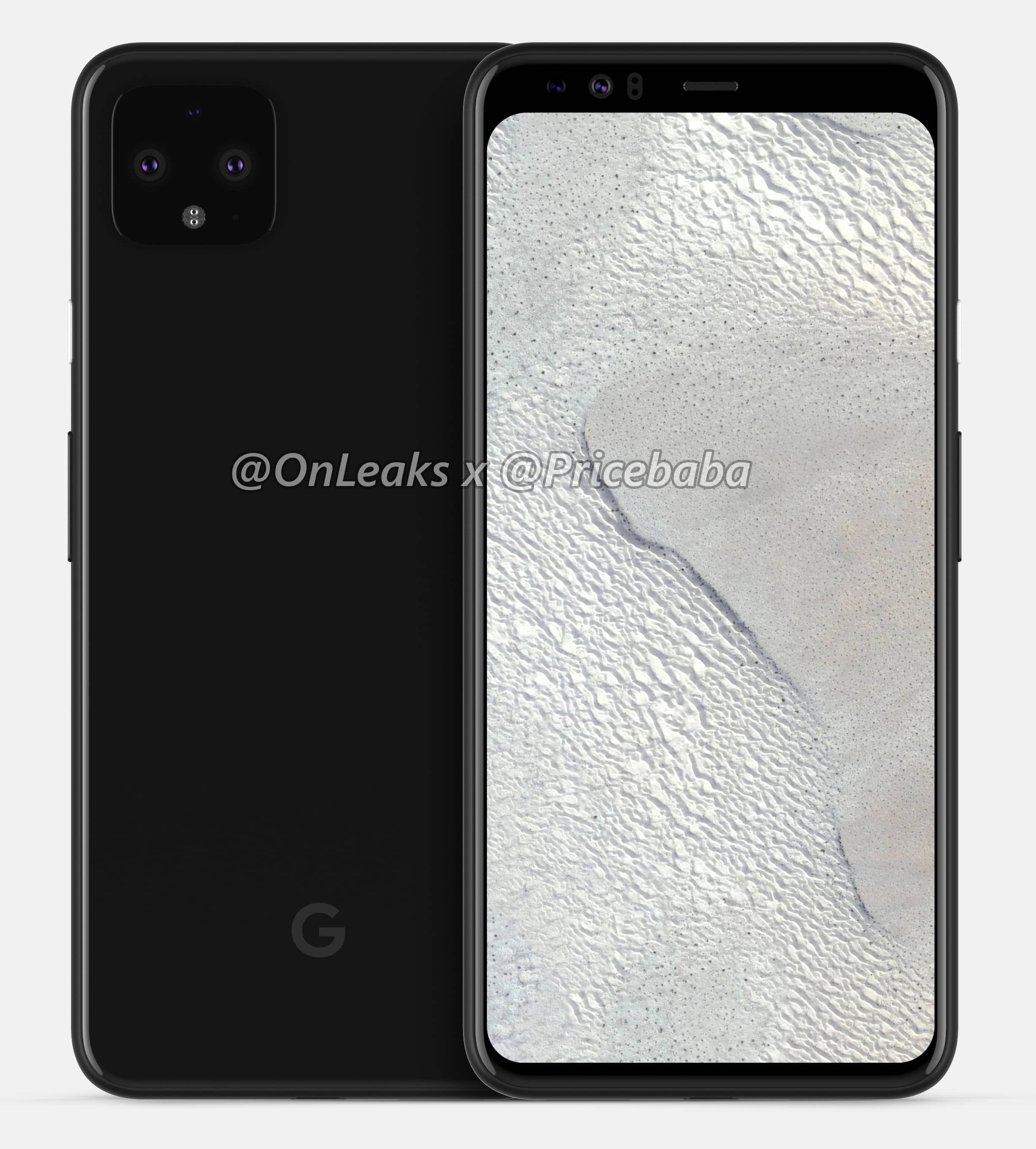 Google Pixel 4 XL renderi i video