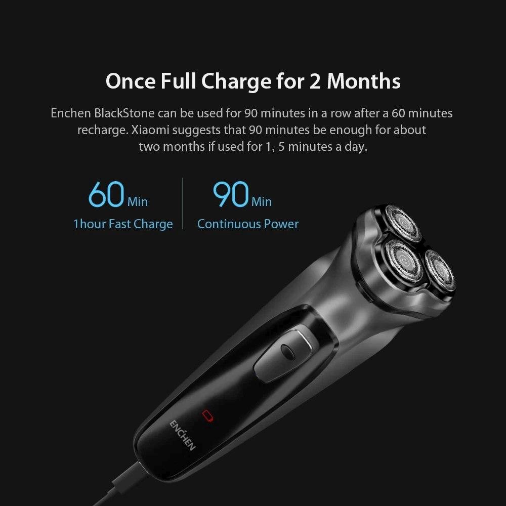 Xiaomi Youpin Enchen Black Stone 3D Electric Shaver 3