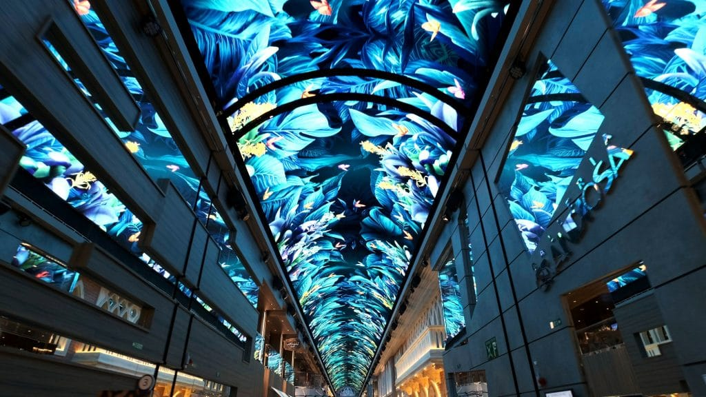 Samsung LED display aboard cruise ship MSC Grandiosa 5