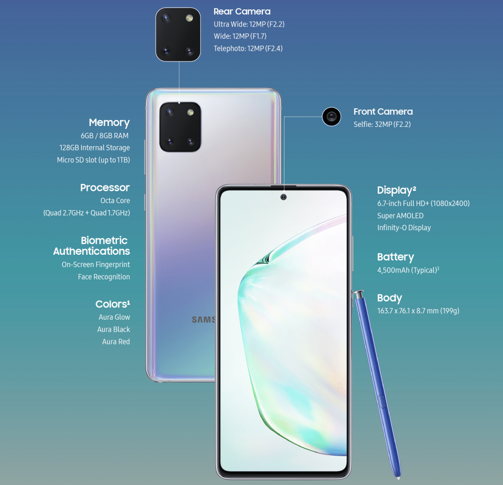 Note 10 Lite specifikacije