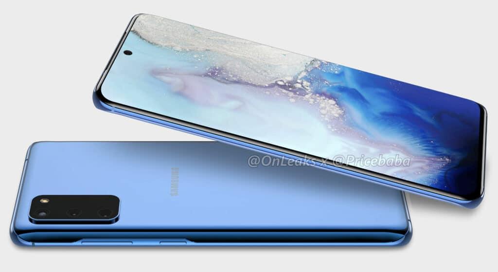 CAD render Samsung Galaxy S20